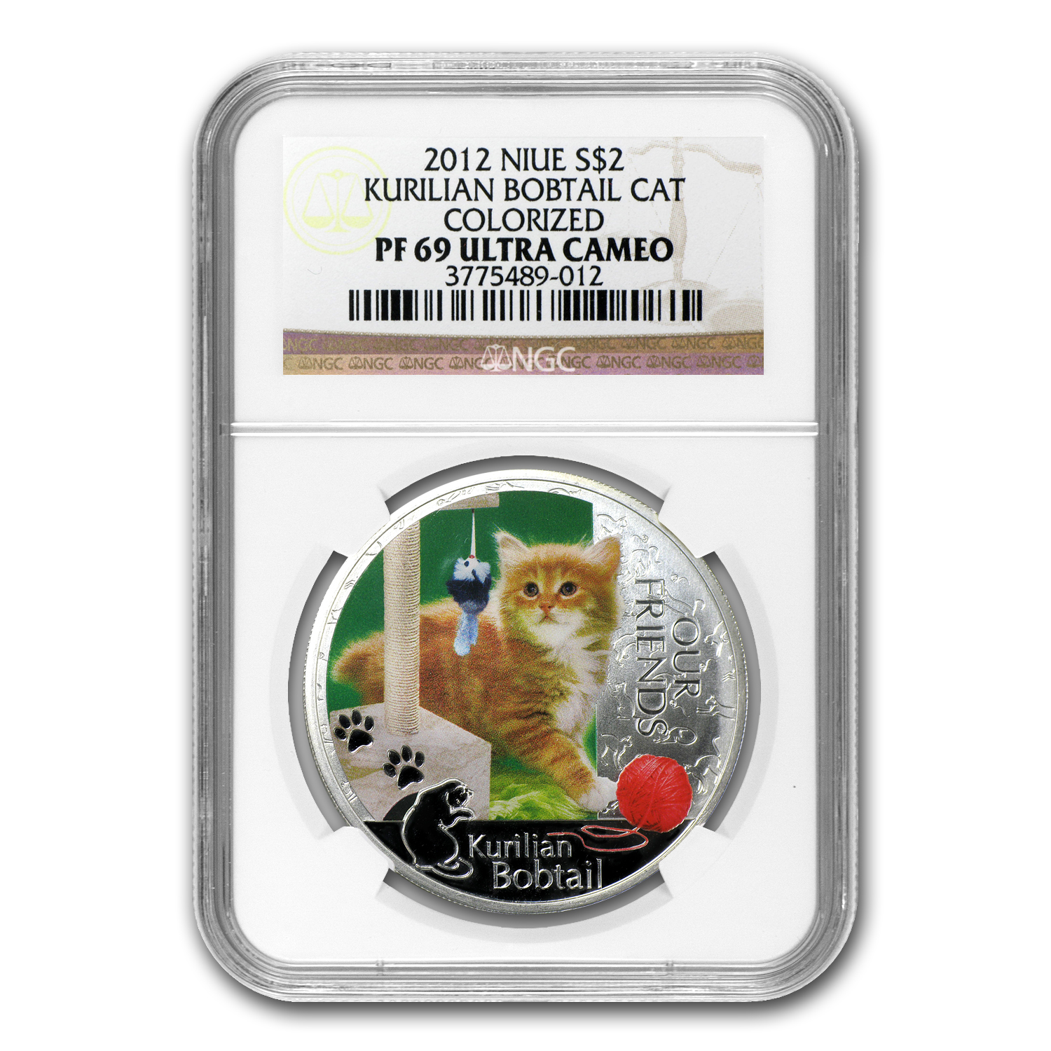 2012 Niue 1 oz Silver Kitten Collection Kurlian Bobtail PF-69 NGC