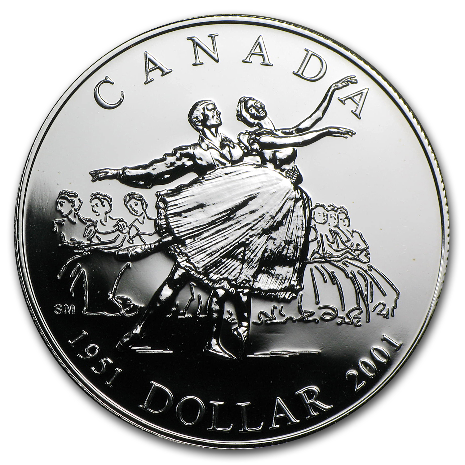 2001 Canadian BU Silver Dollar - National Ballet of Canada