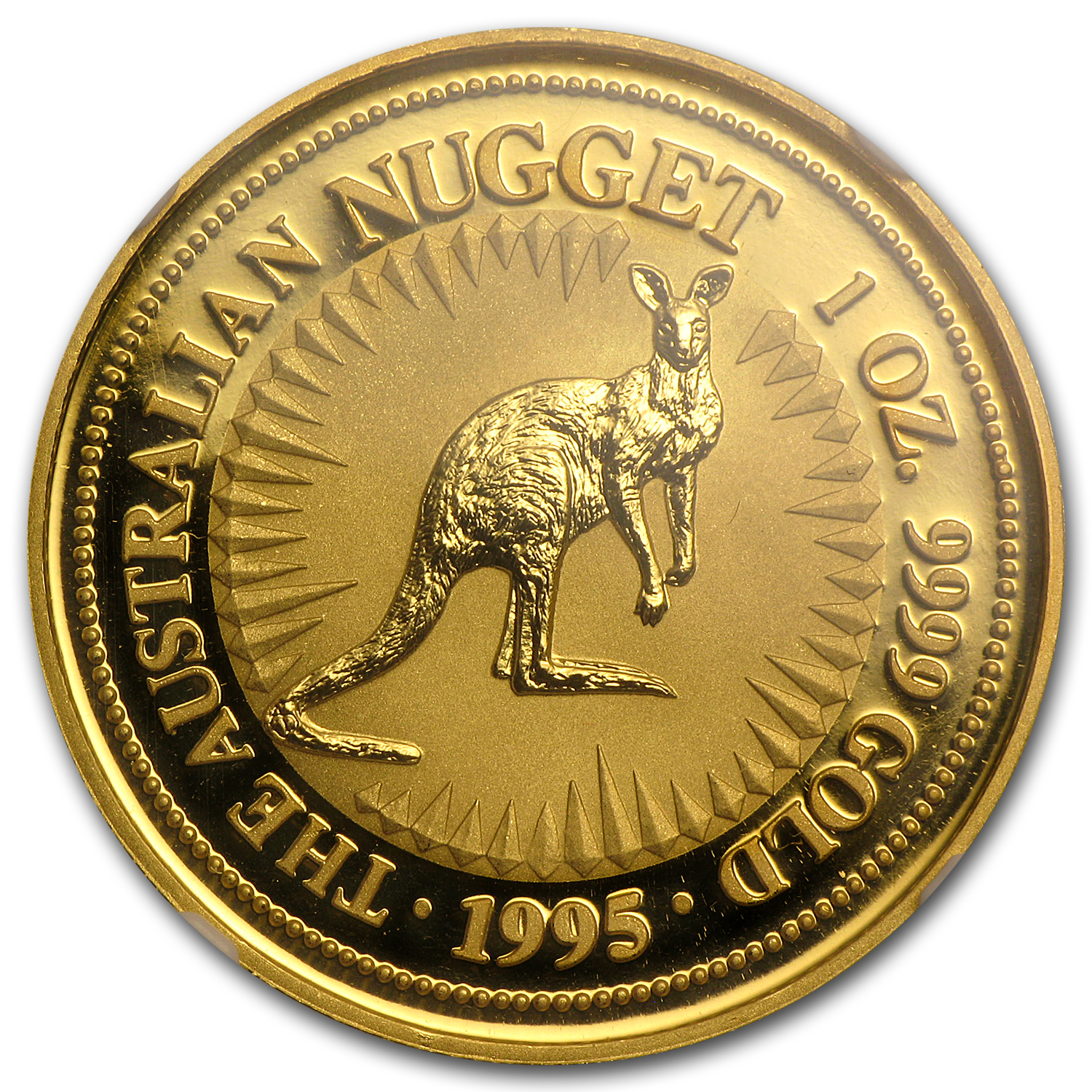 1995 1 oz Australian Gold Nugget NGC MS-69