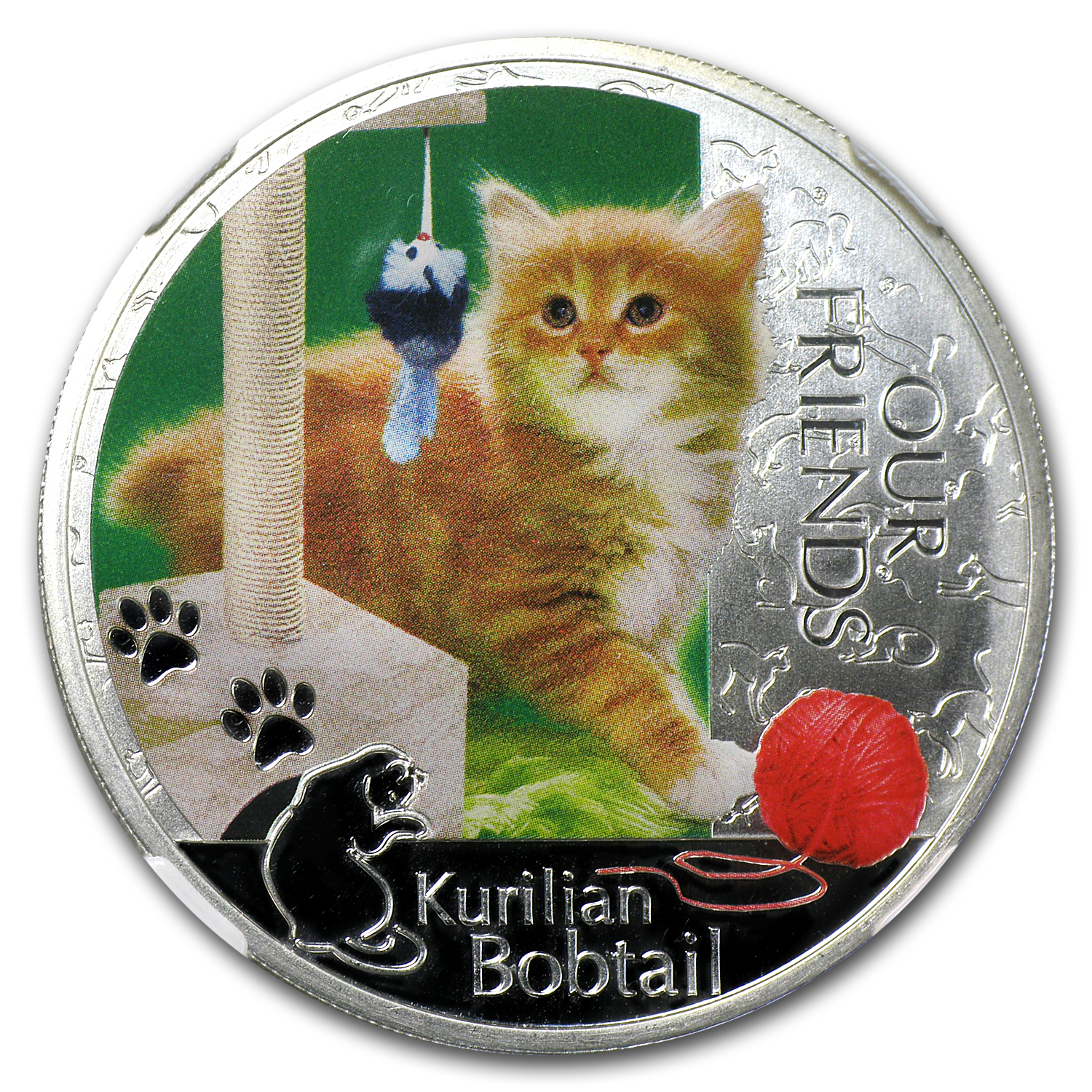 2012 Niue 1 oz Silver Kitten Collection Kurlian Bobtail PF-70 NGC