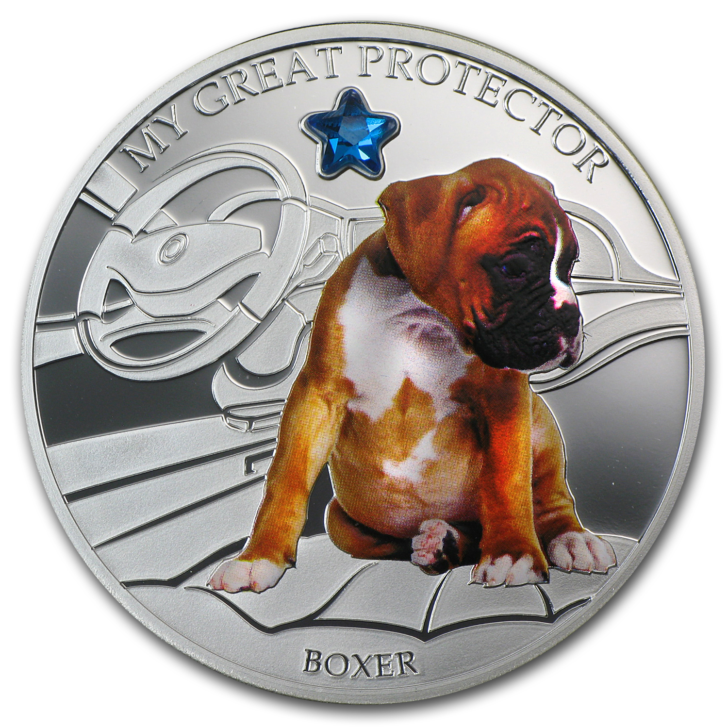 2013 Fiji Silver Dogs & Cats Series My Great Protector Boxer