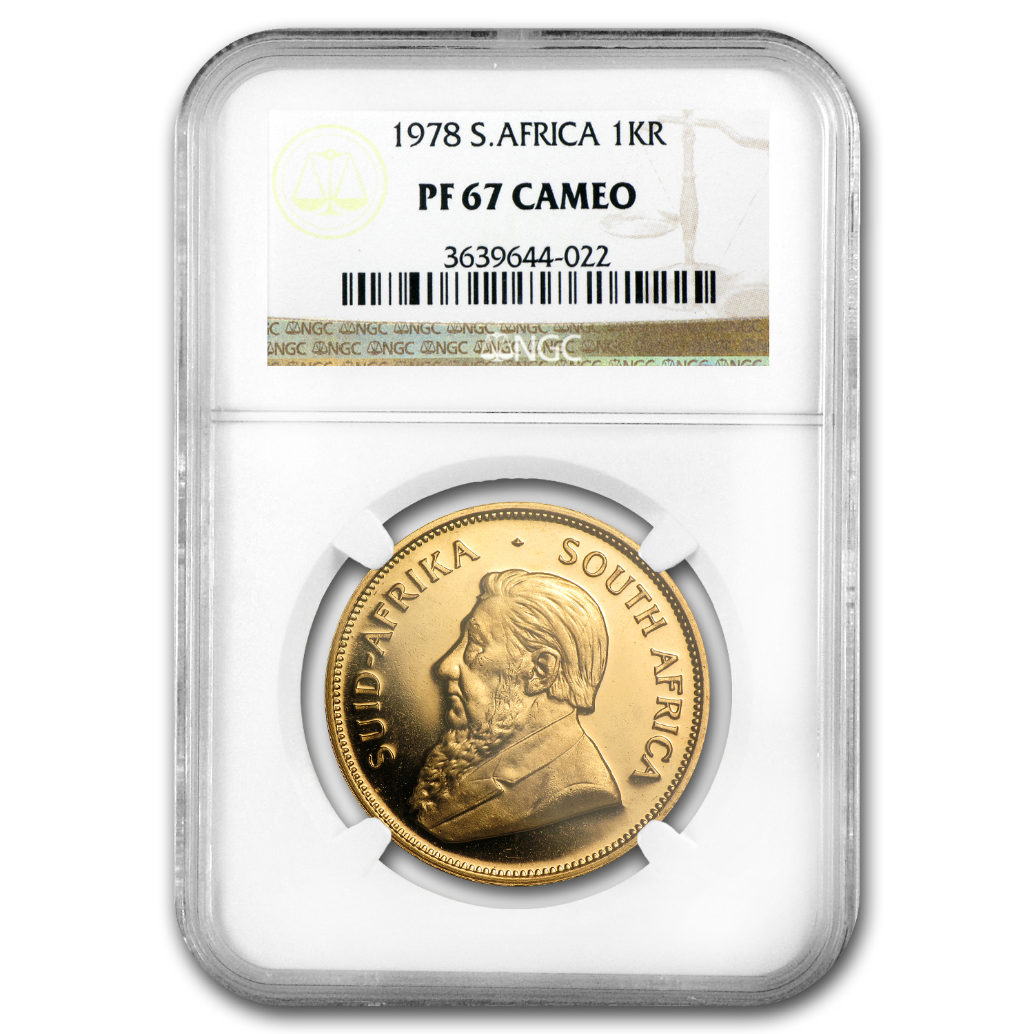1978 1 oz Gold South African Krugerrand PF-67 Cameo NGC