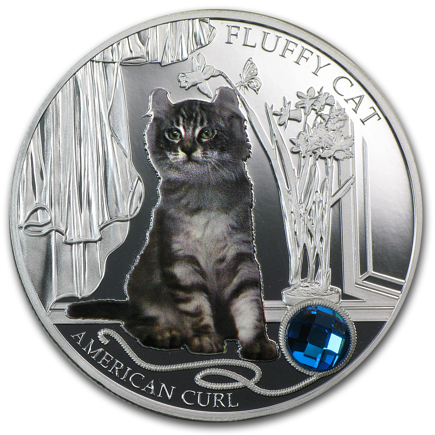 2013 Fiji Silver Dogs & Cats Series Fluffy Cat American Curl
