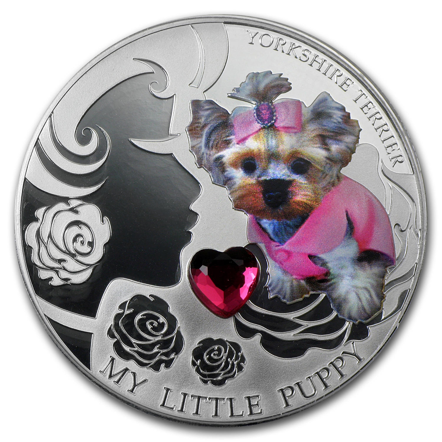 2013 Fiji Silver Dogs & Cats Series My Little Puppy Yorkshire