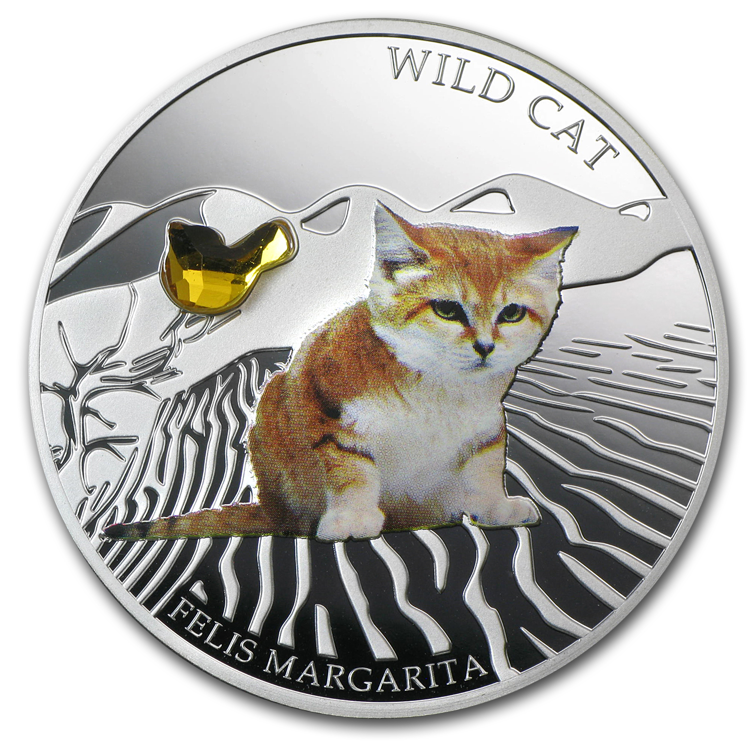 2013 Fiji Silver Dogs & Cats Series Wild Cat Felis Margarita