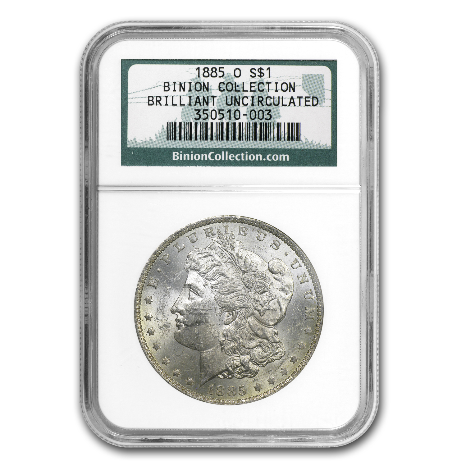 1885-O Morgan Dollar - BU NGC From the Ted Binion Collection