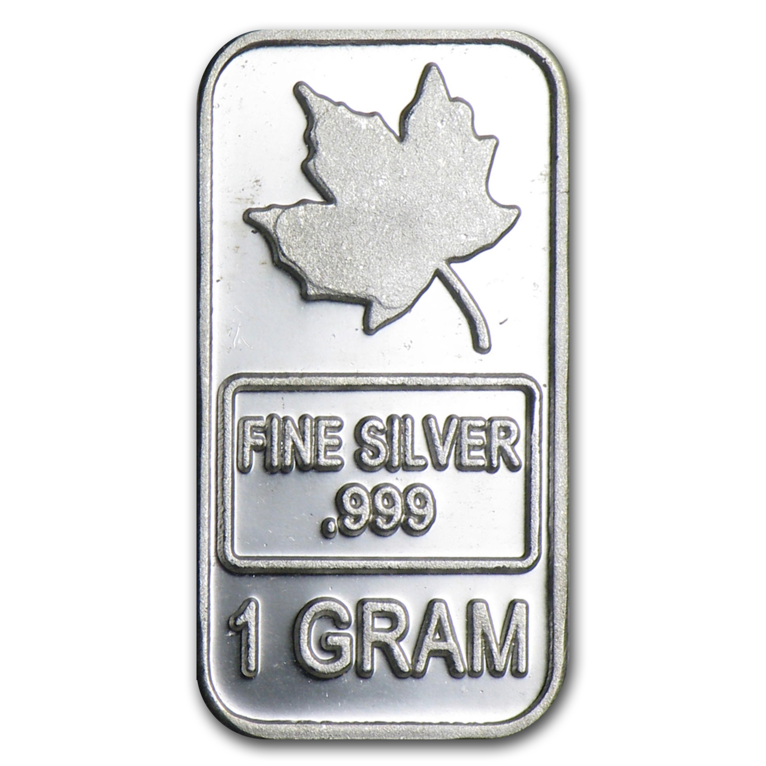 1 gram Silver Bar - Maple Leaf