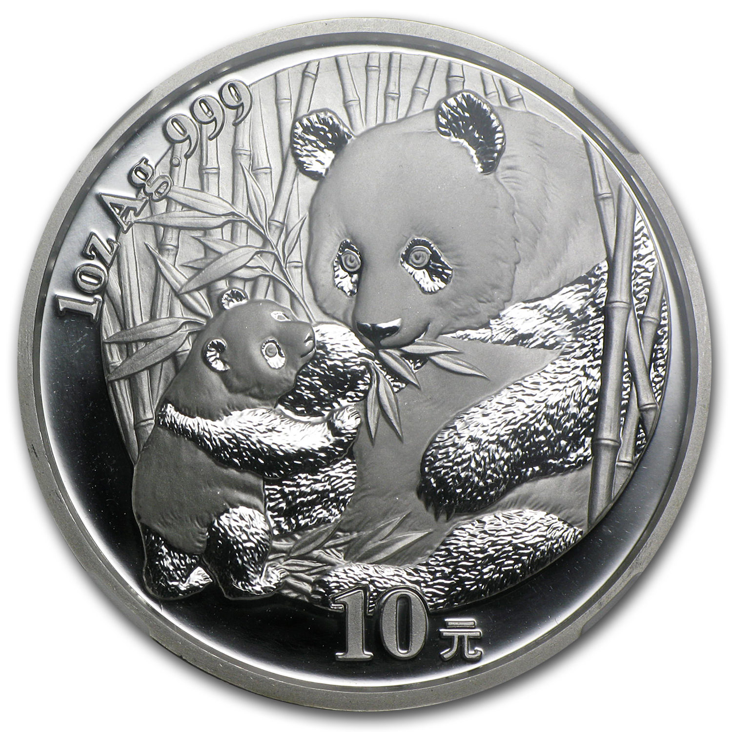 2005 China 1 oz Silver Panda MS-66 NGC