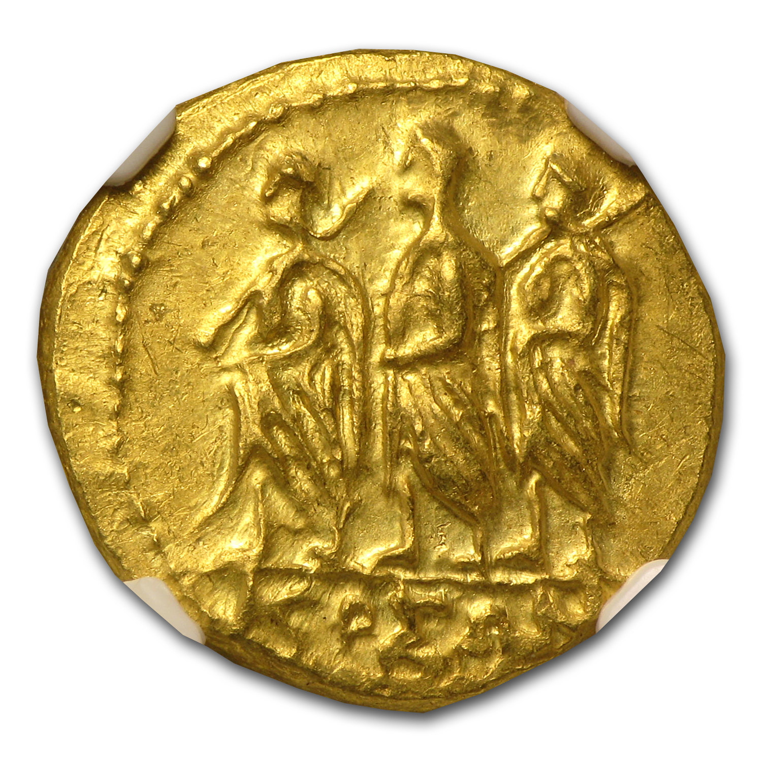 Thracian/Scythian Gold Stater (1st Century BC) MS NGC