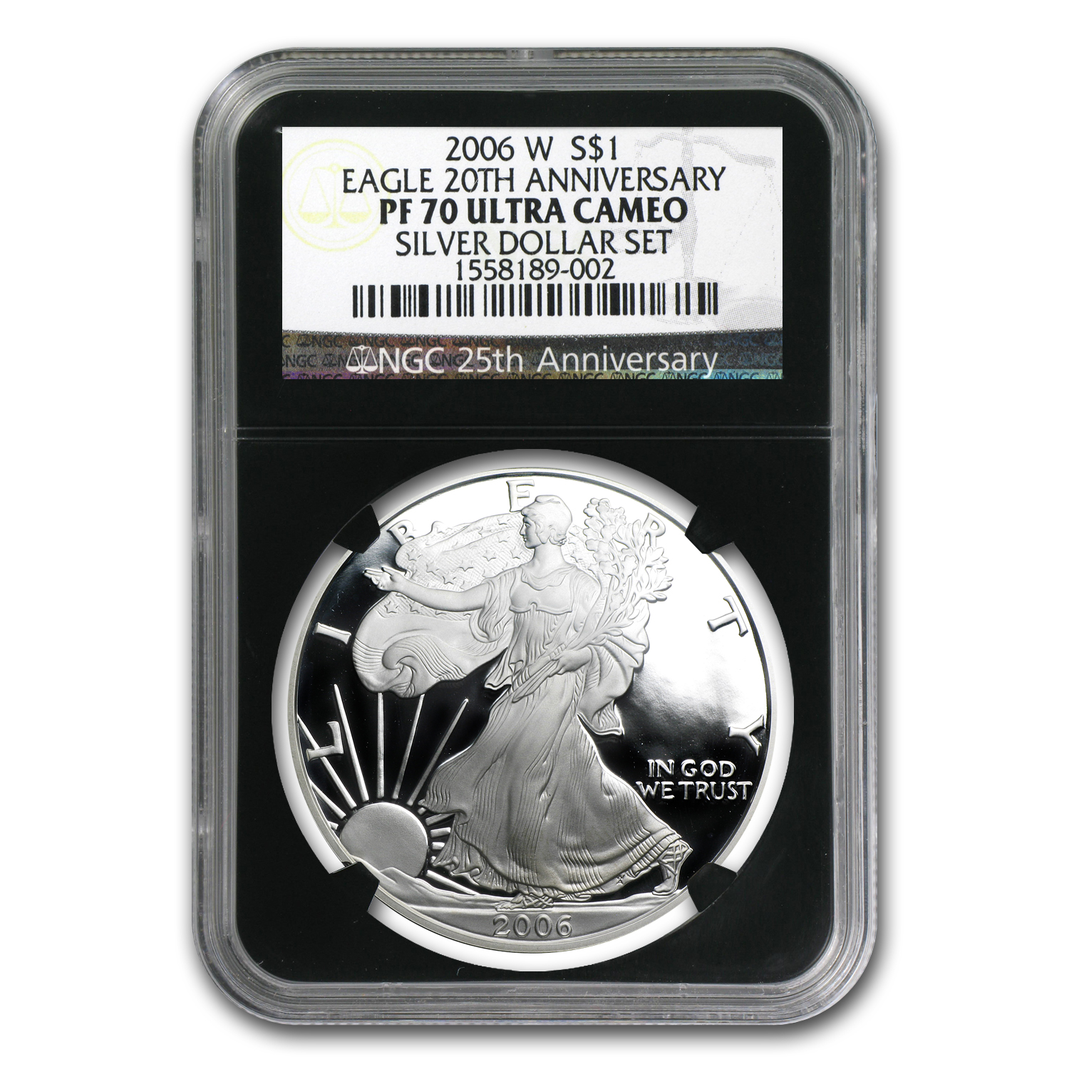 2006-W Proof Silver American Eagle PF-70 NGC (Retro Black Insert)