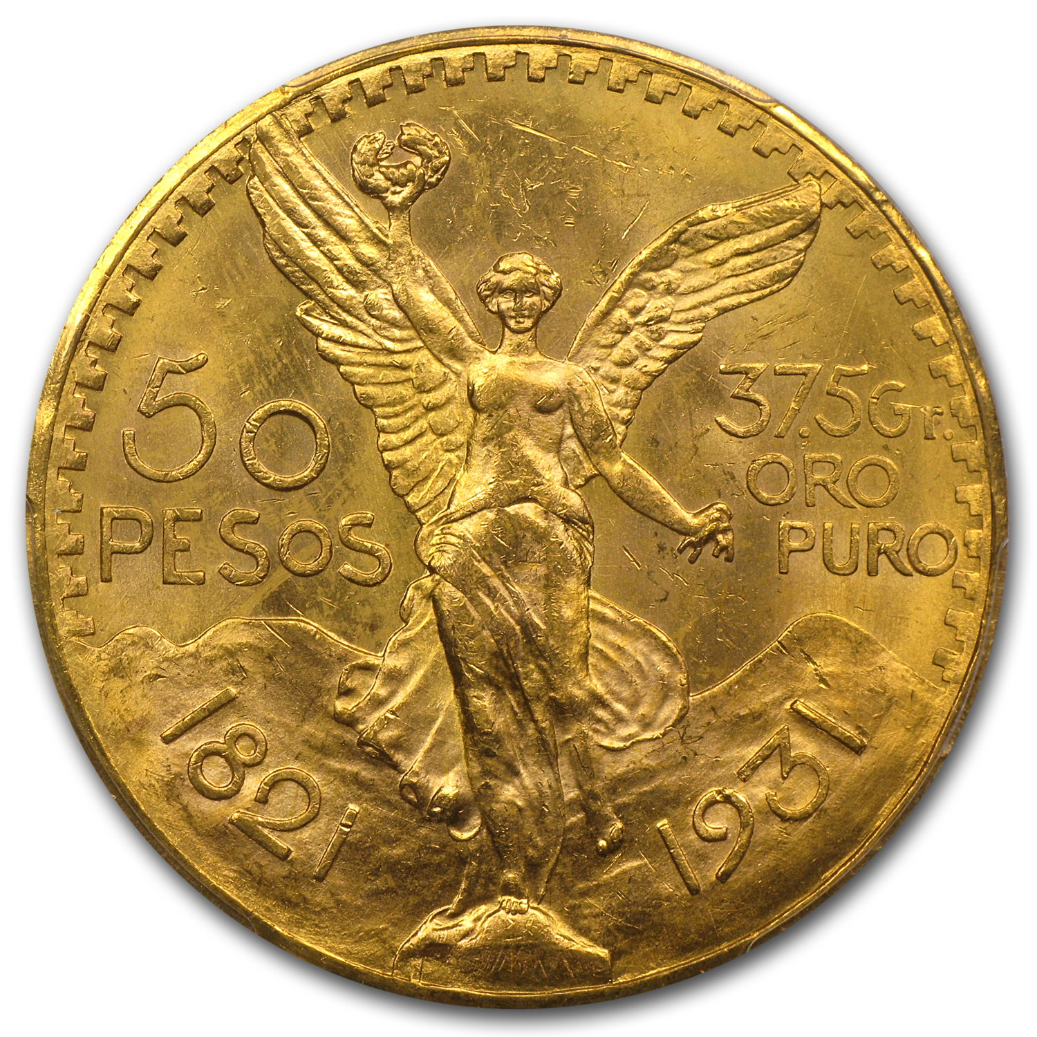 1931 Mexico 50 Pesos Gold MS-63 PCGS