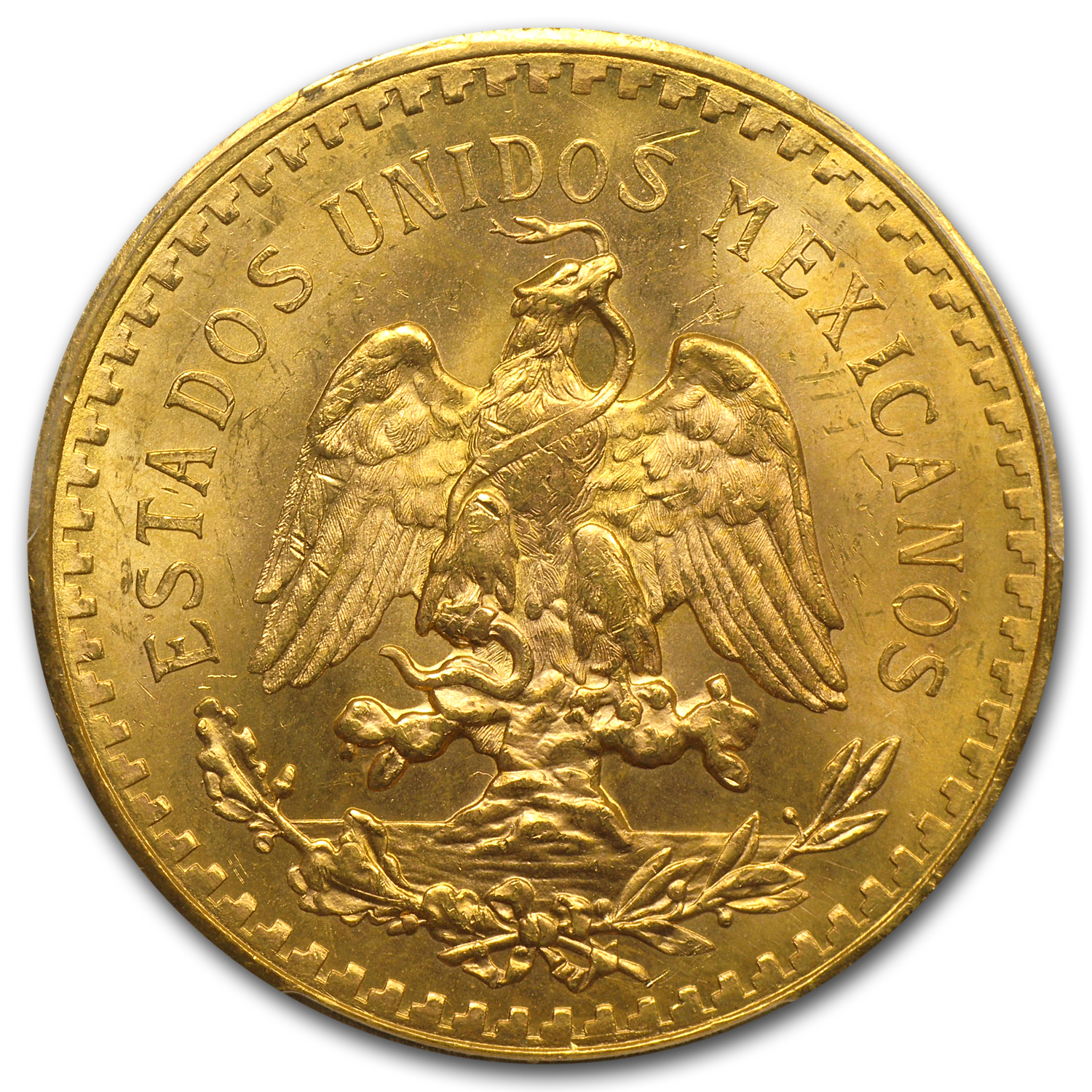 Mexico 1931 50 Pesos Gold MS-63 PCGS