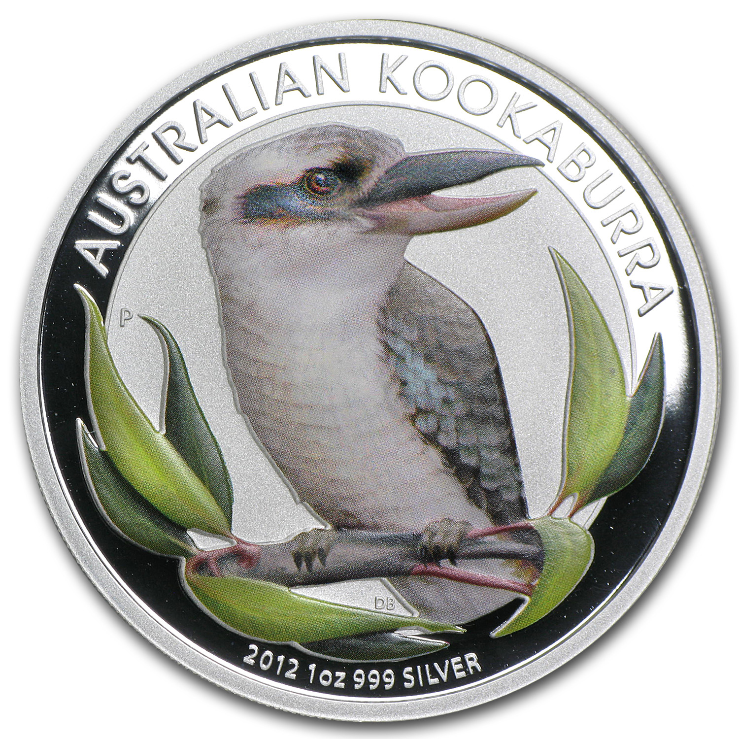 2012 Australia 1 oz Silver Kookaburra (Colorized, In Capsule)