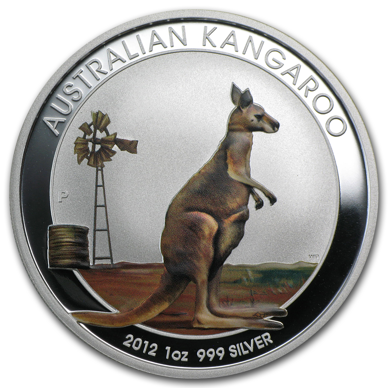 2012 Australia 1 oz Silver Kangaroo Colorized (In Capsule)