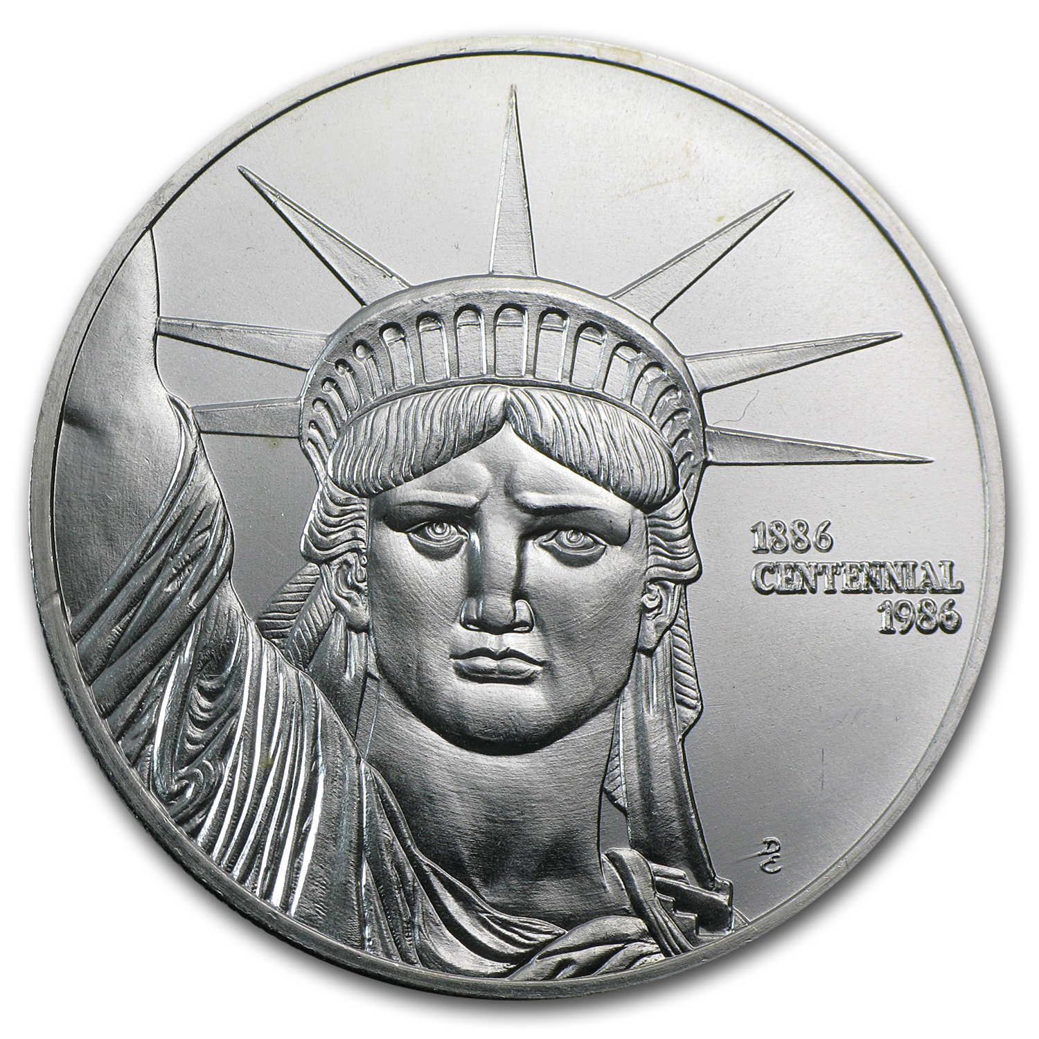 1 oz Silver Rounds - Engelhard (Statue of Liberty/MTB)