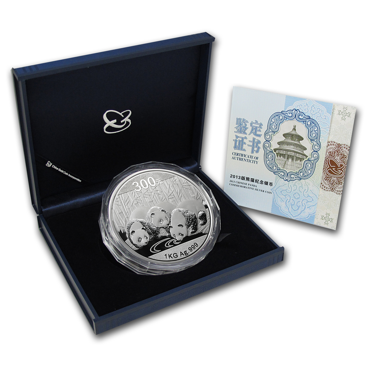 2013 1 Kilo Silver Chinese Panda Proof (w/Box & COA)