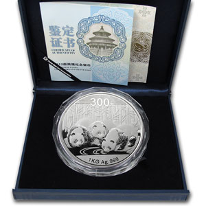 2013 (Kilo Proof) Silver Chinese Panda (W/Box & COA)