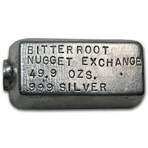 49.90 oz Silver Bars - Bitter Root Nugget Exchange