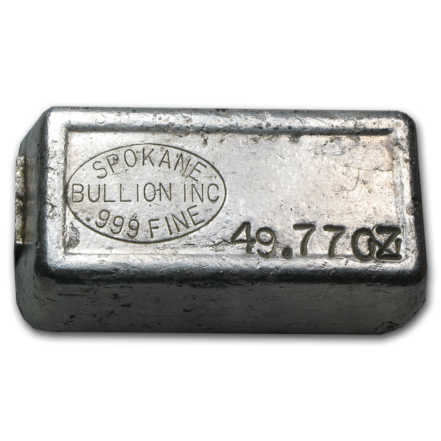 49.77 oz Silver Bar - Spokane Bullion Inc