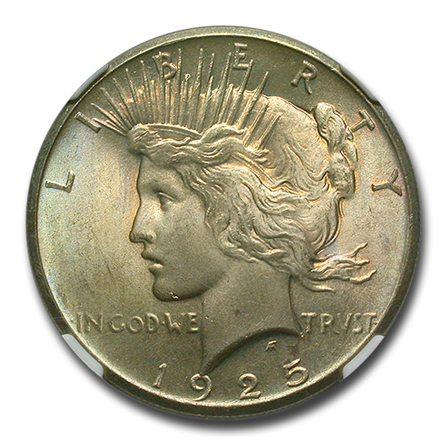 1925 Peace Dollar MS-66 NGC - CAC