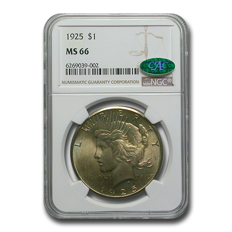 1925 Peace Dollar MS-66 NGC (CAC)