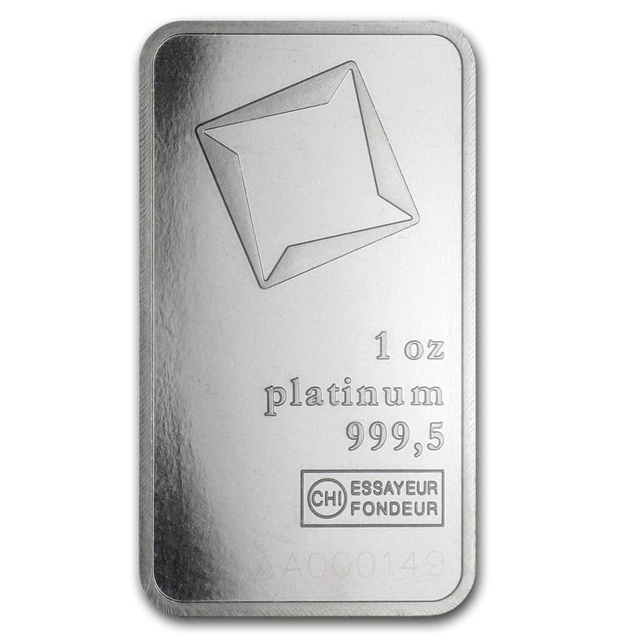 1 oz Platinum Bar - Valcambi Suisse (In Assay)