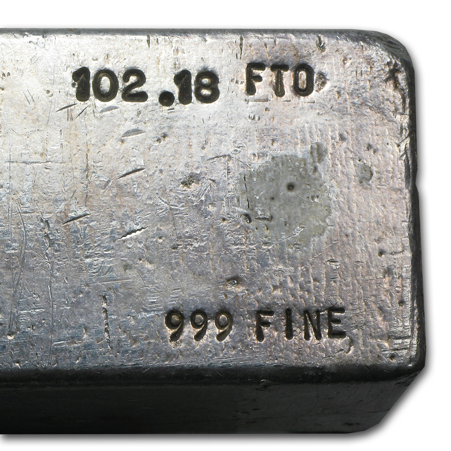 102.18 oz Silver Bar - Seaside Silver Recovery