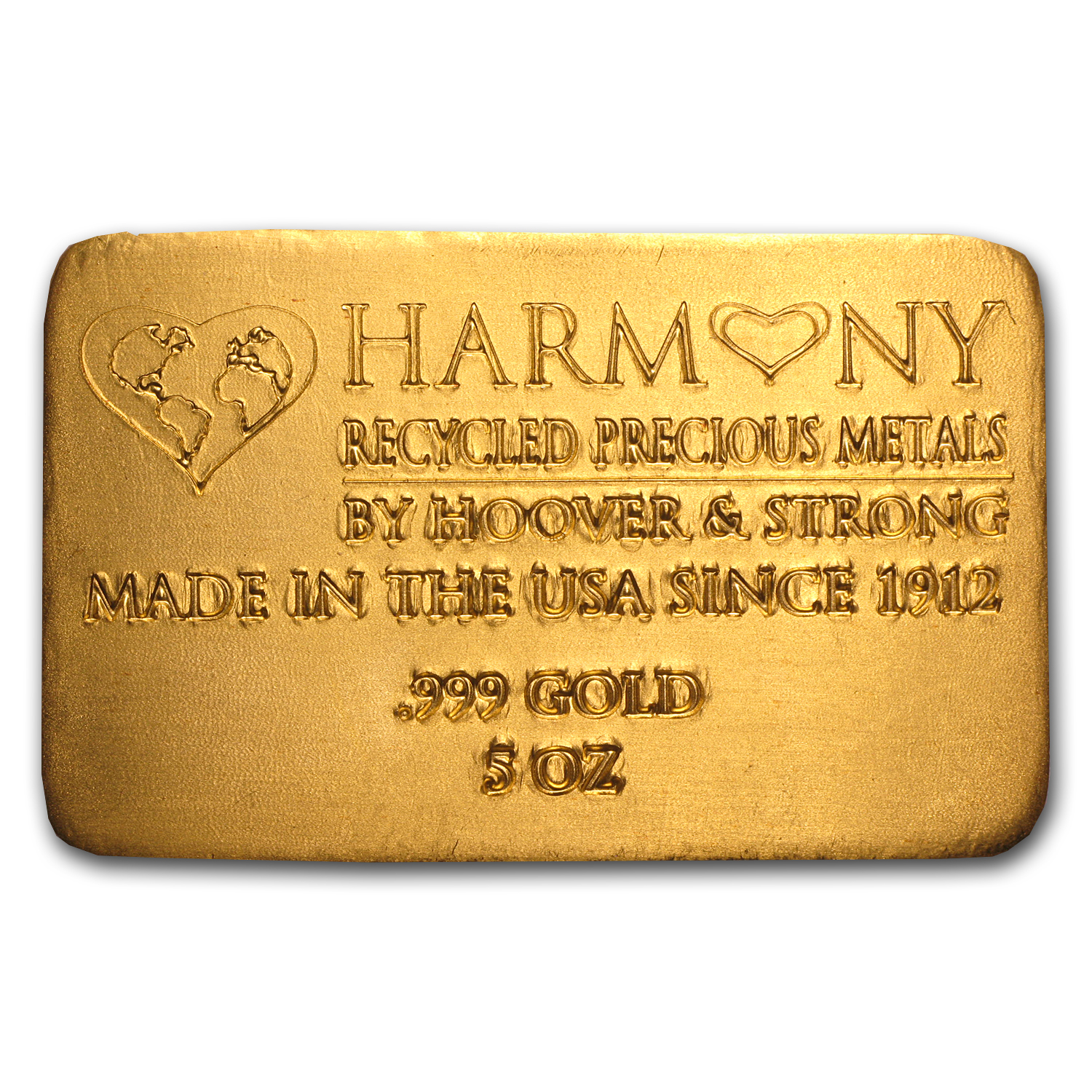 5 oz Gold Bar - Harmony Precious Metals