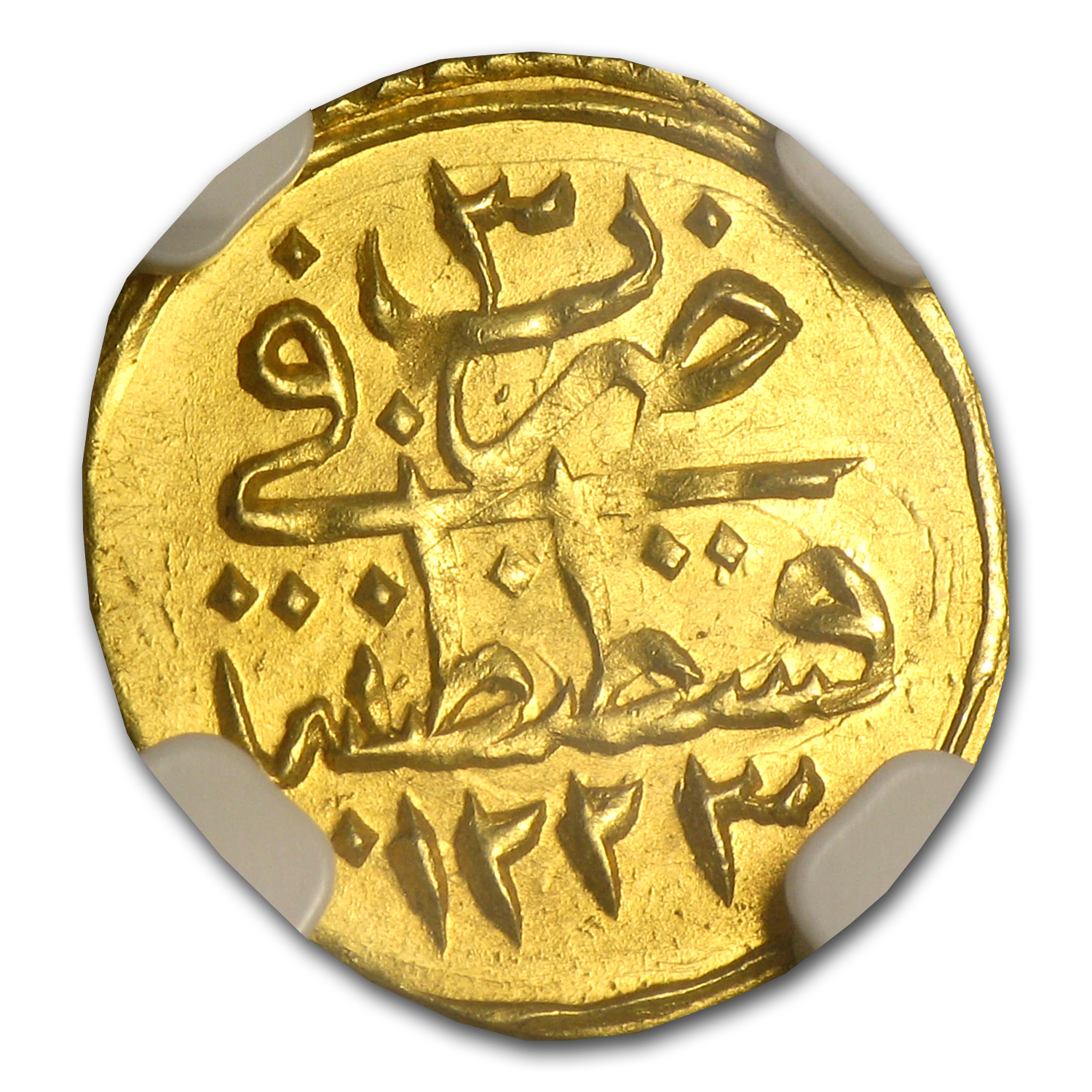 Turkey AH 1/4 Zeri Mahbub Gold Coin MS-65 NGC