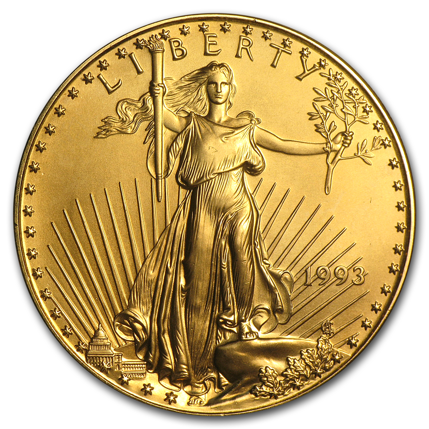 1993 1 oz Gold American Eagle BU