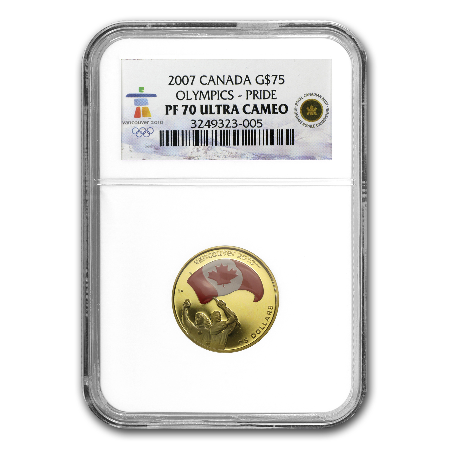 2007 Canada Gold $75 Olympics Athletes Pride PF-70 NGC