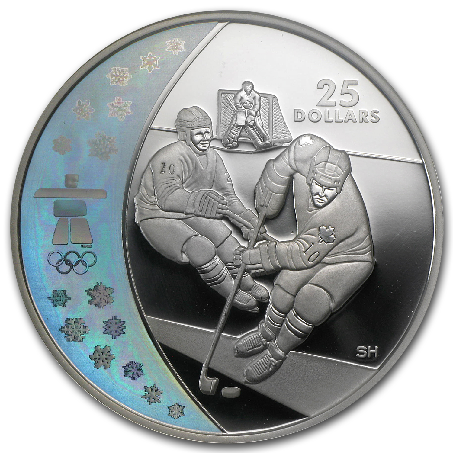 2007 Canada Silver $25 Olympic Ice Hockey PF-70 NGC