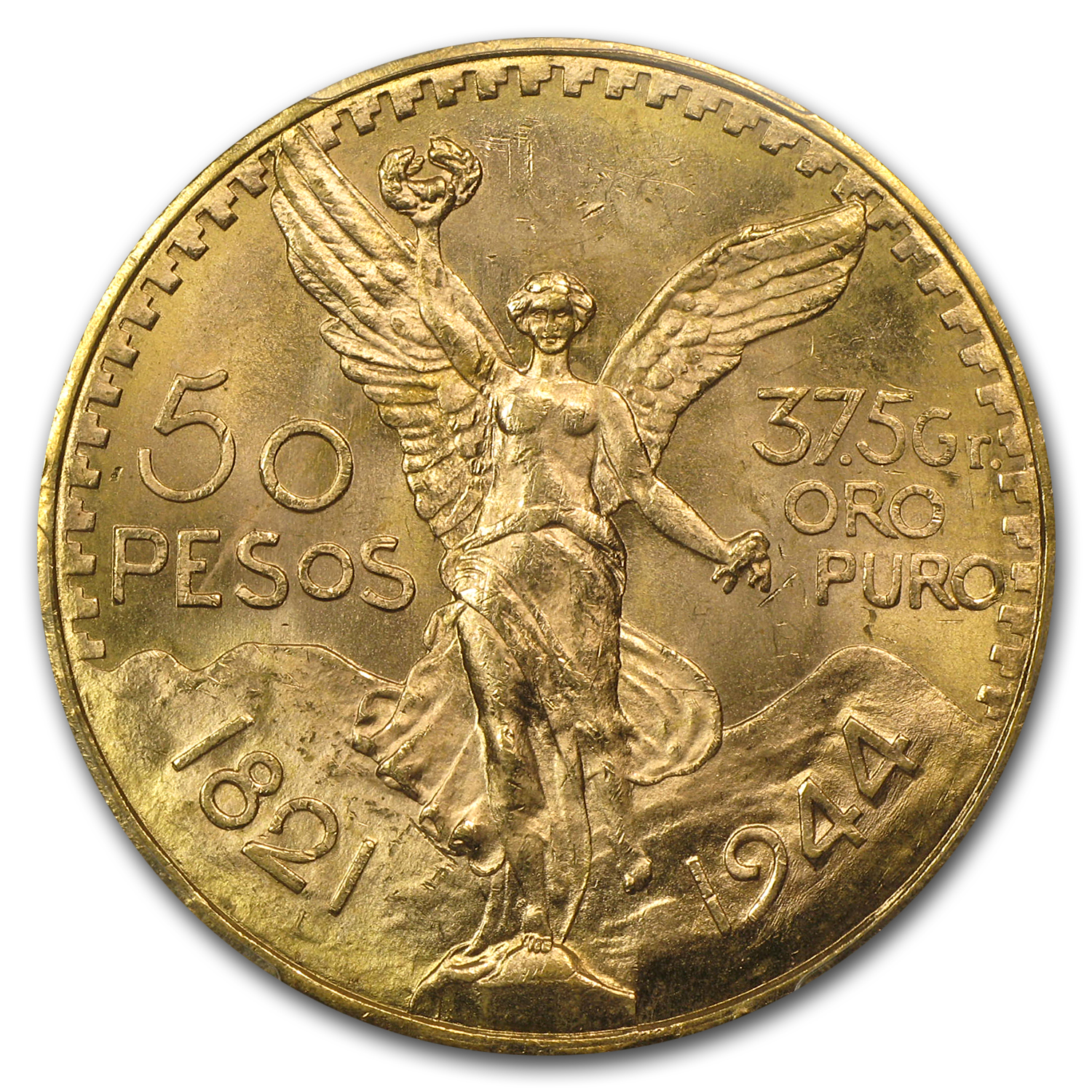 1944 Mexico Gold 50 Pesos MS-66 PCGS (Finest Known)