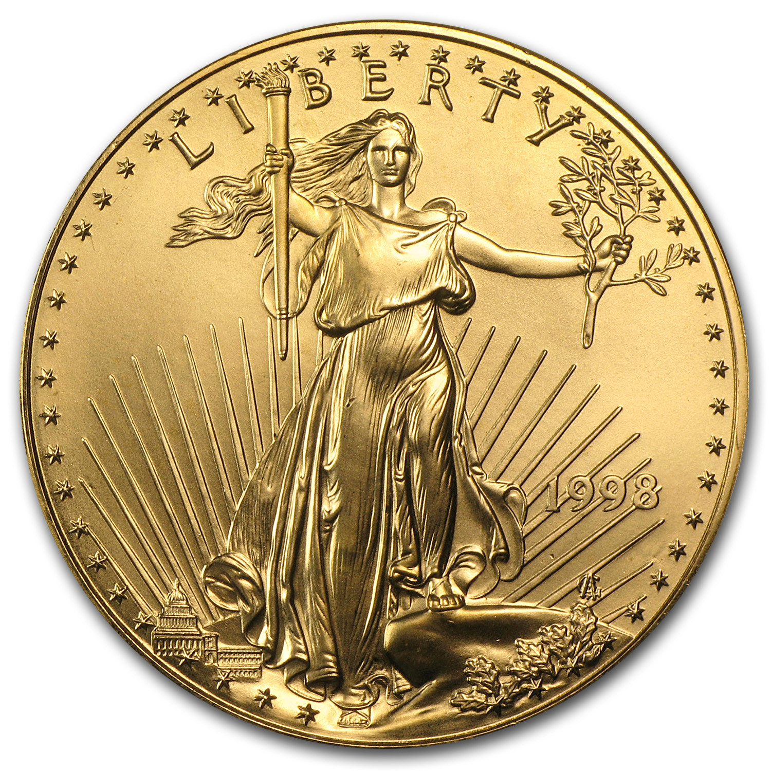 1998 1 oz Gold American Eagle BU