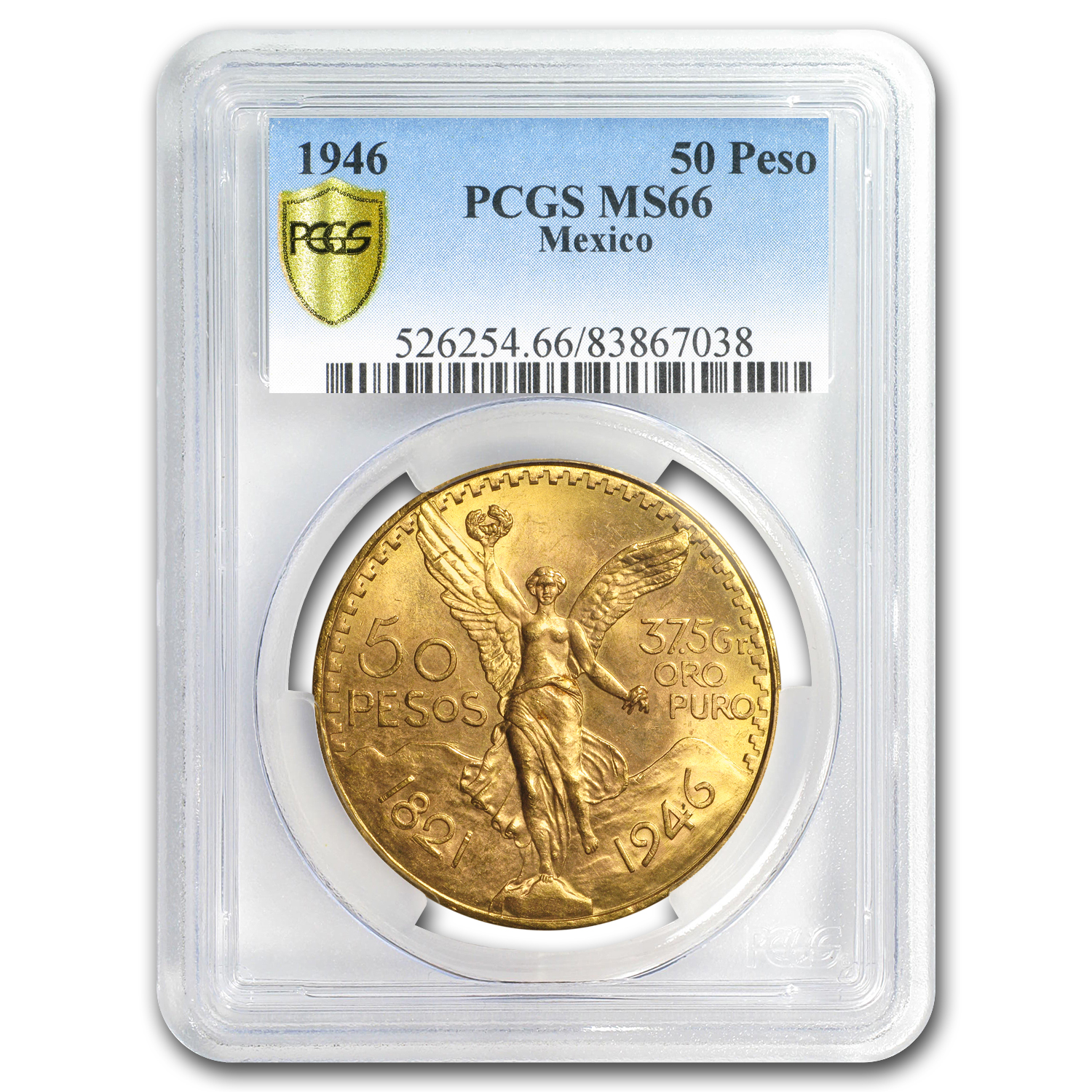 Mexico 1946 50 Pesos Gold MS-66 PCGS