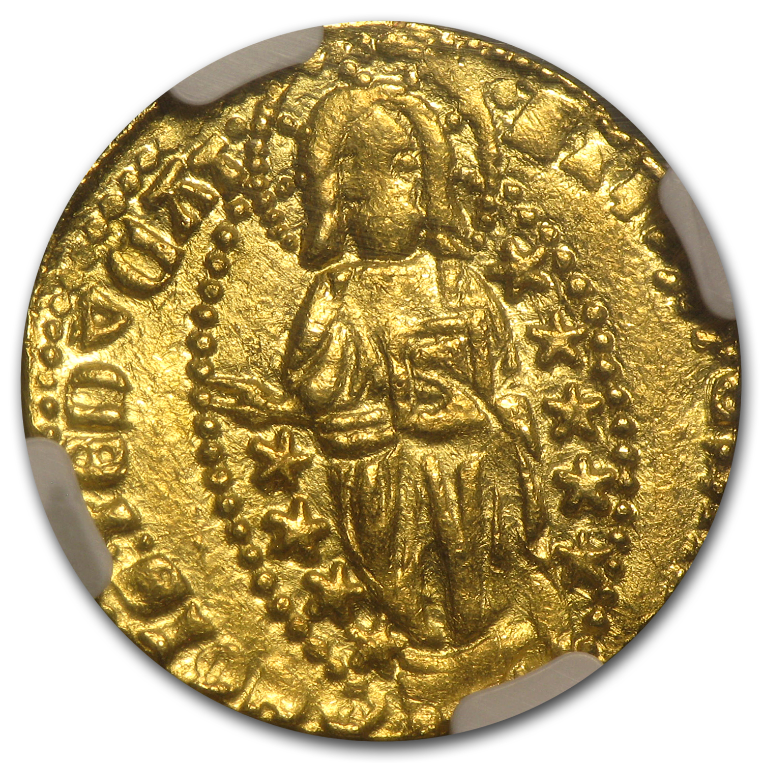 Greece (Chios) Gold Zecchino (1382-1400 AD) NGC MS-61