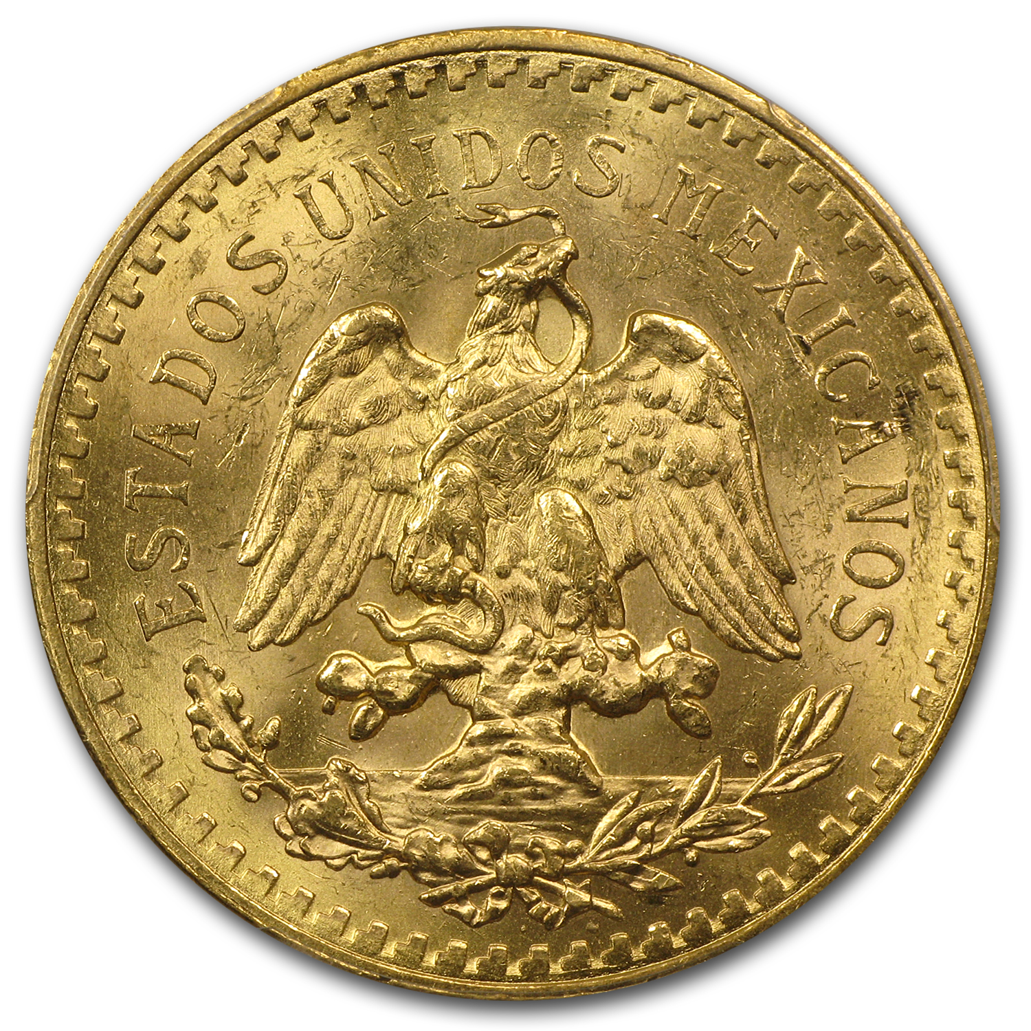 1929 Mexico Gold 50 Pesos MS-63+ PCGS