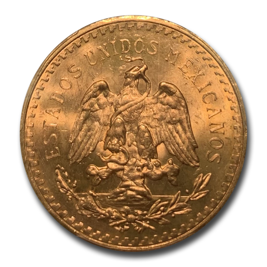 1943 Mexico Gold 50 Pesos MS-65+ PCGS