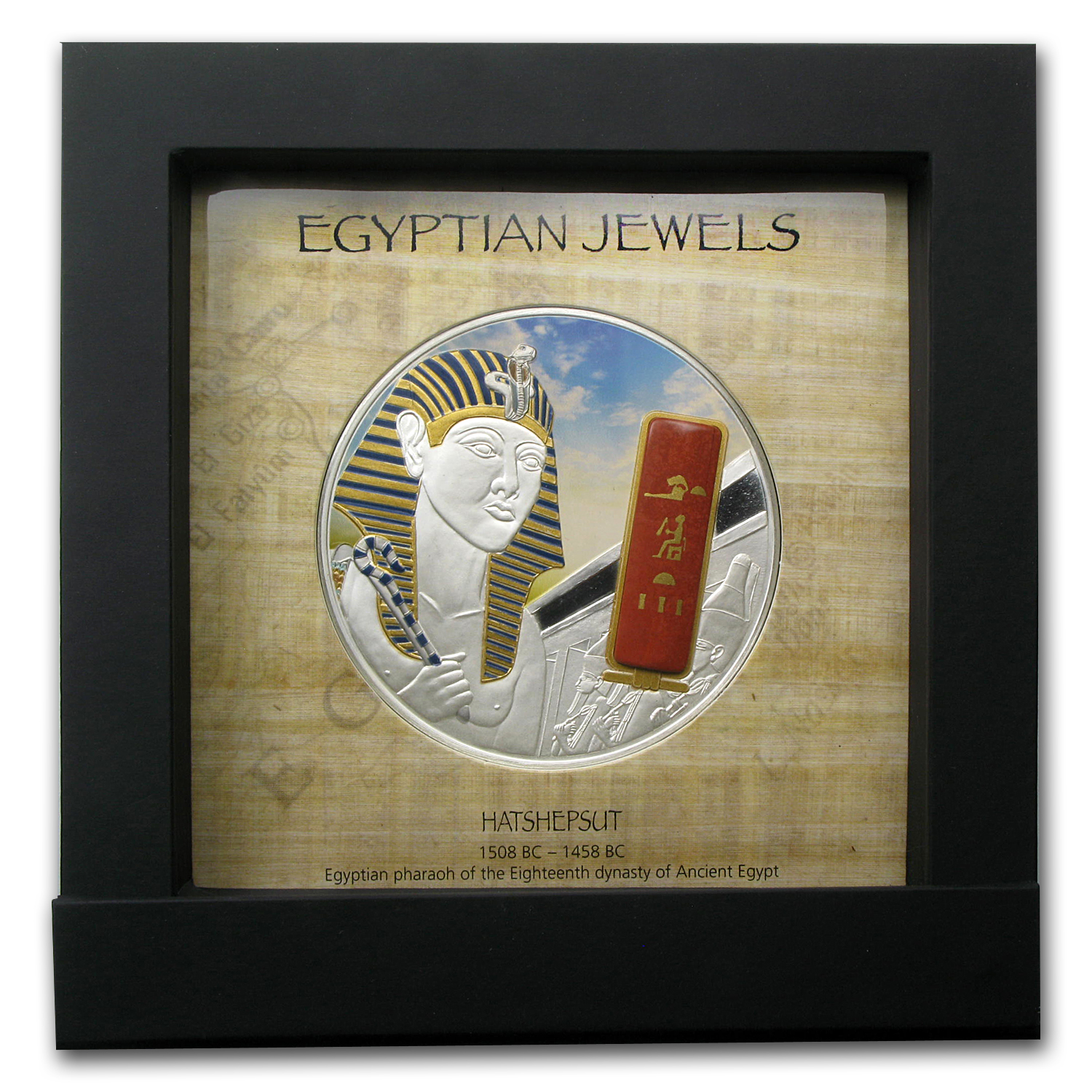 Fiji 2012 2 oz Proof Silver $50 Egyptian Jewels - Hatshepsut