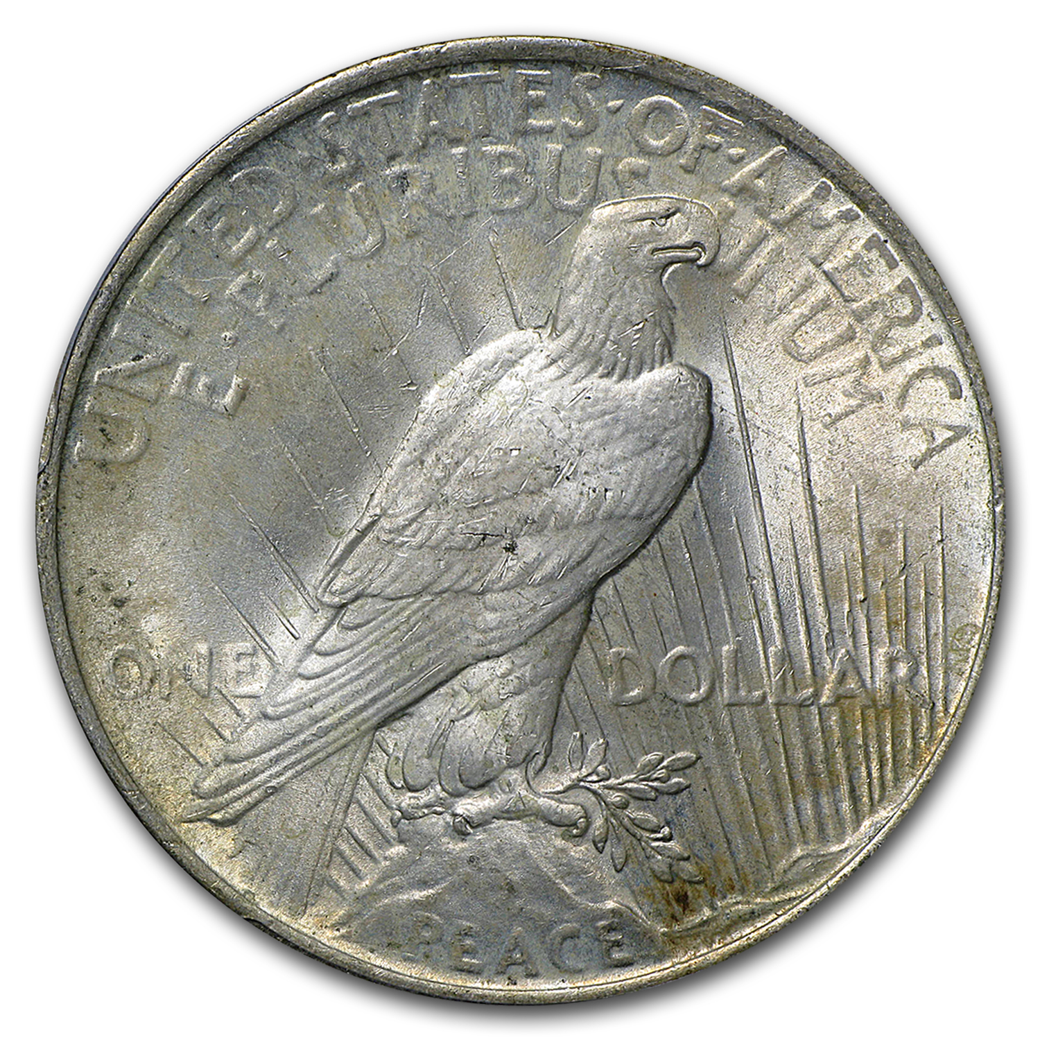 1922-1925 Peace Dollars - MS-64 PCGS (Toned Obverse/Reverse)