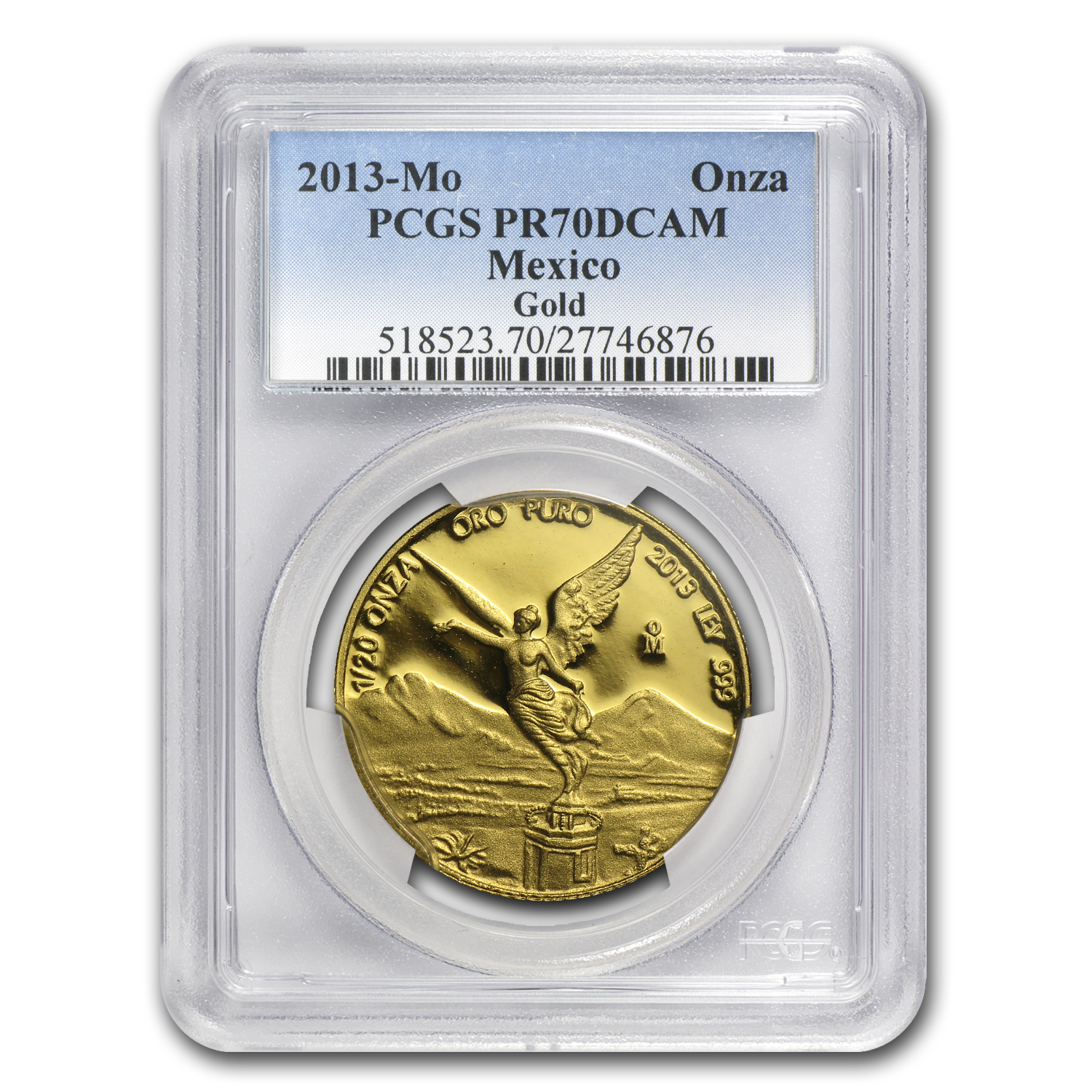 2013 Mexico 5-Coin Gold Libertad Proof Set PR-70 PCGS (1.9 oz)