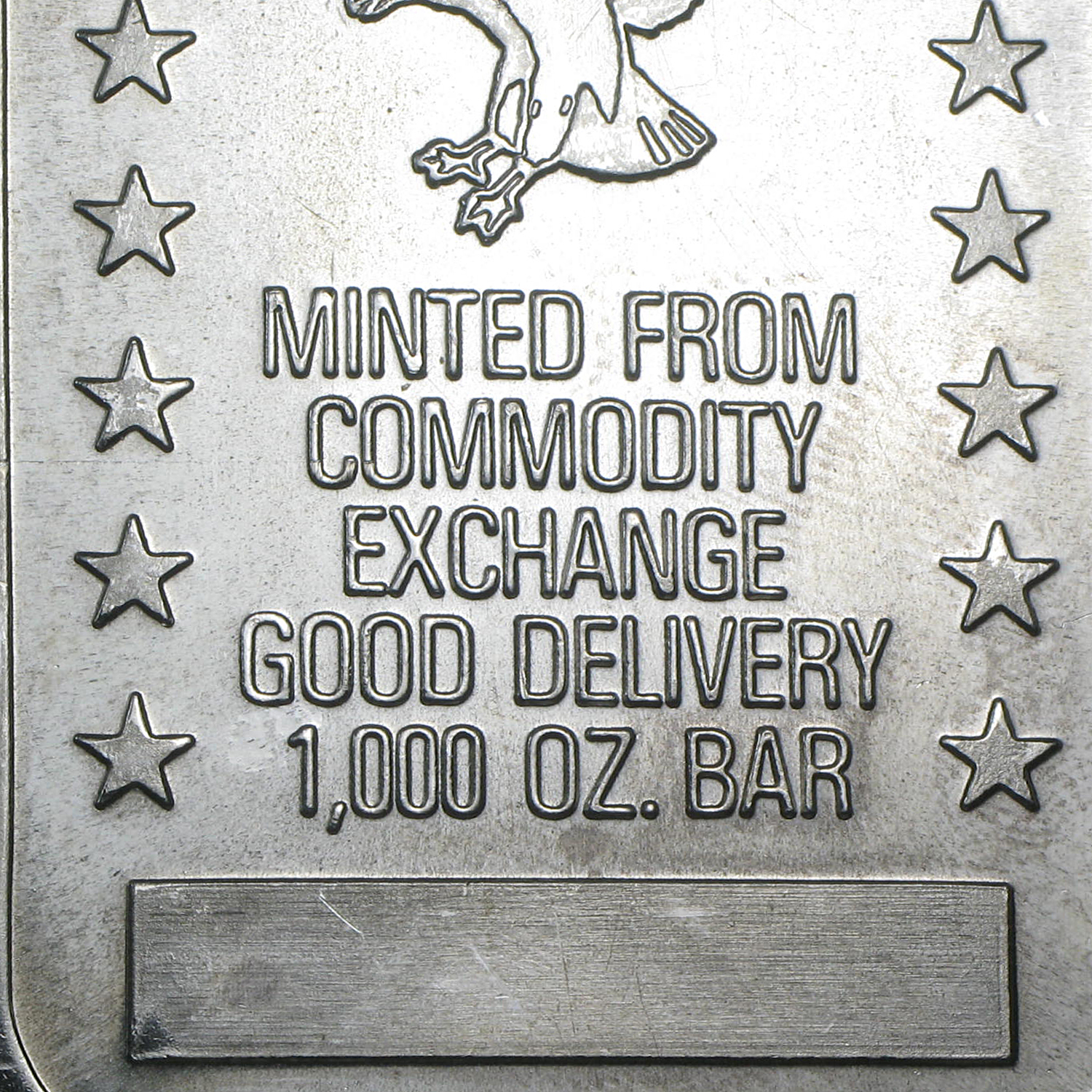 10 oz Silver Bars - Commodity Exchange