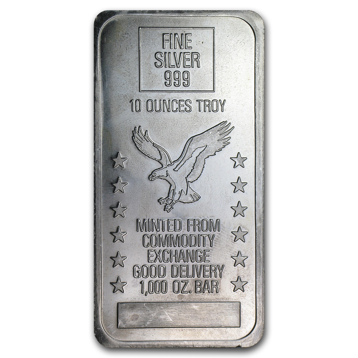 10 oz Silver Bar - Commodity Exchange