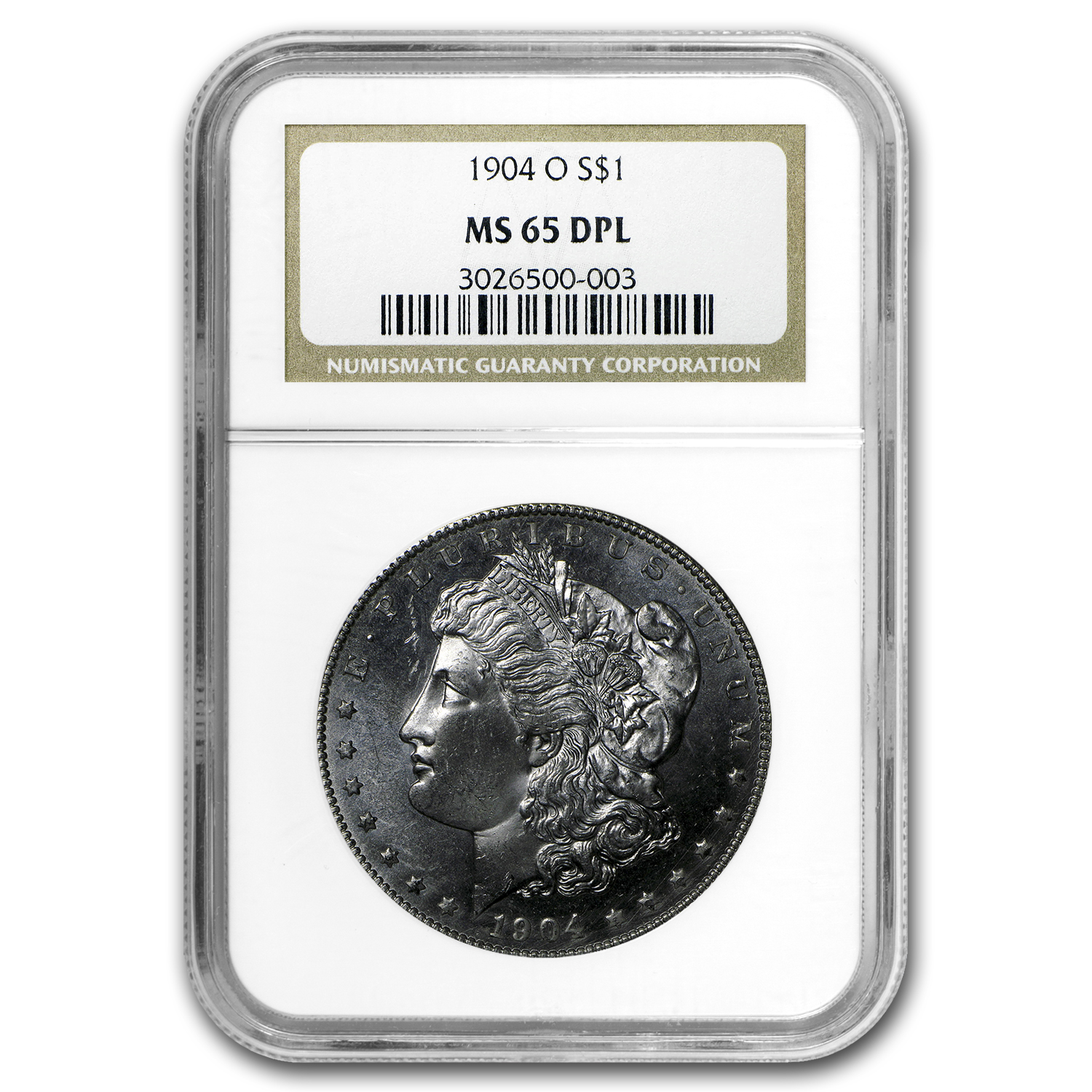 1904-O Morgan Dollar - MS-65 DPL Deep Mirror Proof Like NGC