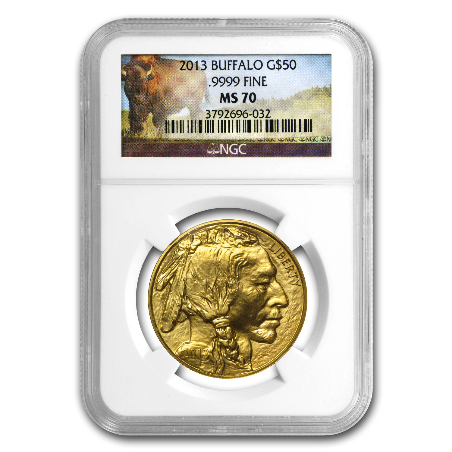 2013 1 oz Gold Buffalo MS-70 NGC (Buffalo Label)