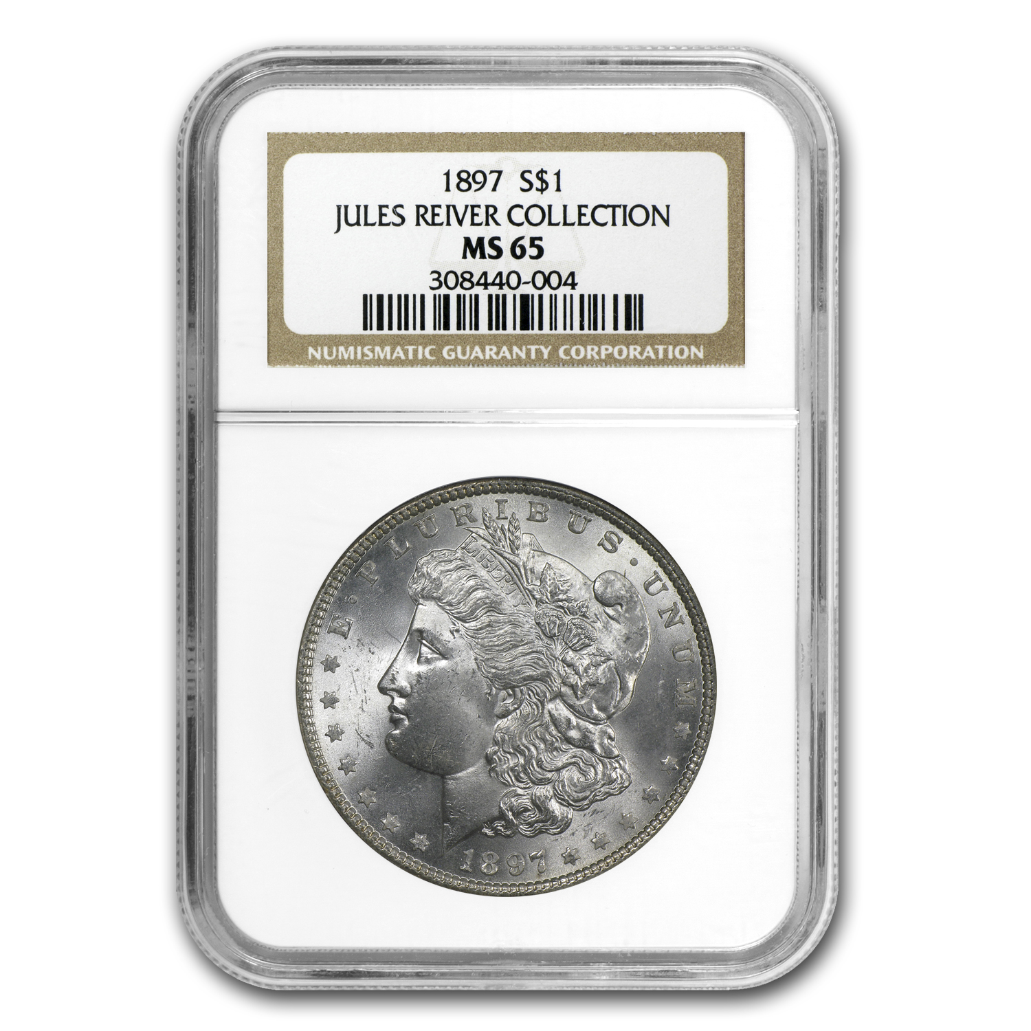 1897 Morgan Dollar - MS-65 NGC - Jules Reiver Collection