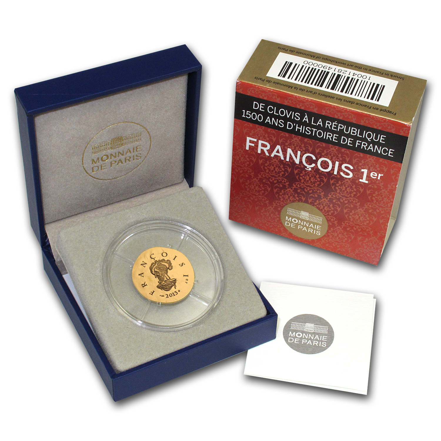 2013 €50 1/4 oz Gold Proof Legendary Collection - Francis I