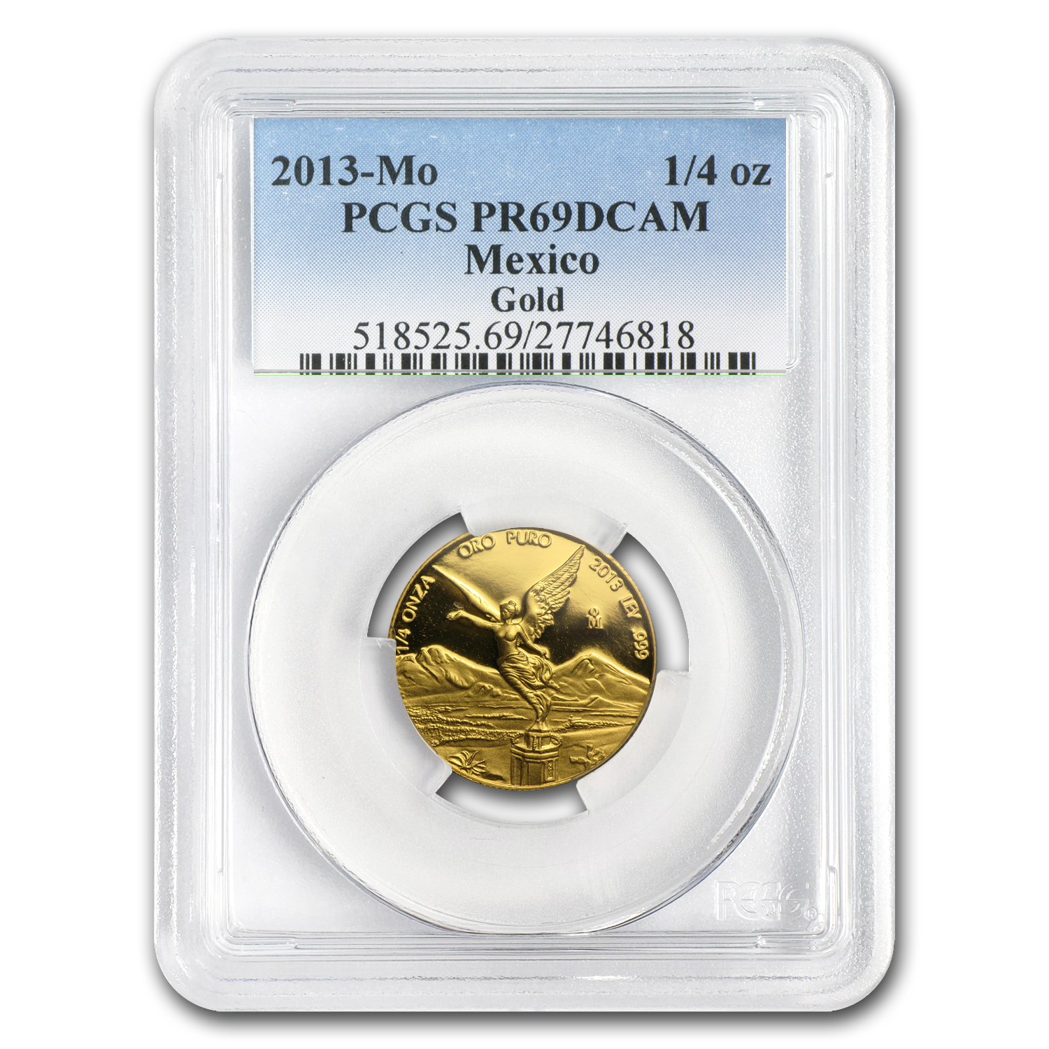 2013 1.9 oz Gold Mexican Libertad 5-Coin Proof Set PR-69 PCGS