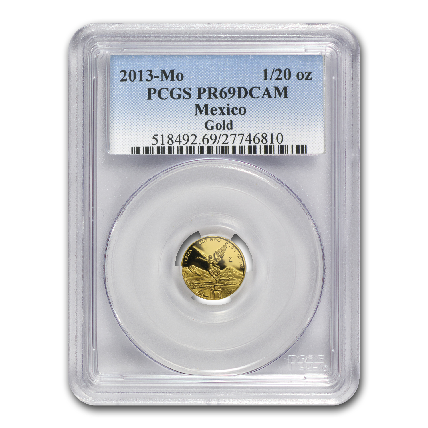2013 Mexico 5-Coin Gold Libertad Proof Set PR-69 PCGS (1.9 oz)