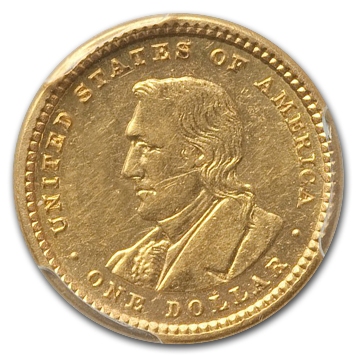 1905 $1.00 Gold Lewis & Clark Almost Uncirculated-58 PCGS